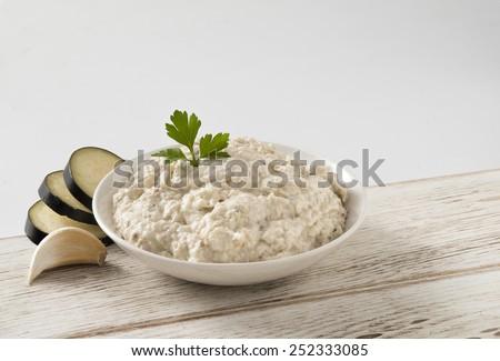 eggplant Greek spread - stock photo
