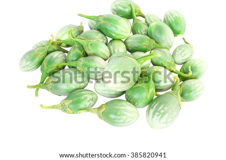 eggplants Isolated on white background