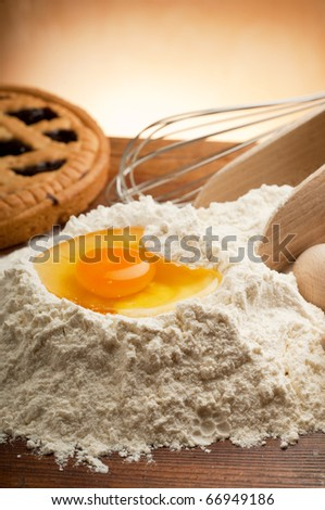 eggs and  flour