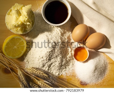 eggs and flour for a recipe