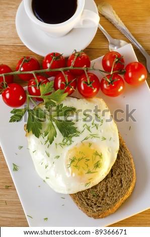 eggs and tomato - stock photo