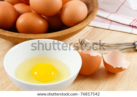 Eggs are a healthy food and a dangerous allergen for anyone with a food allergy - stock photo