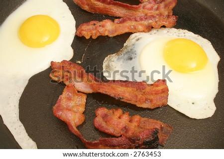 eggs & bacon - stock photo