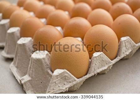 Eggs - Chicken Eggs - raw food  - stock photo