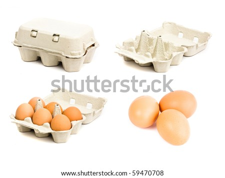 Eggs collection. - stock photo