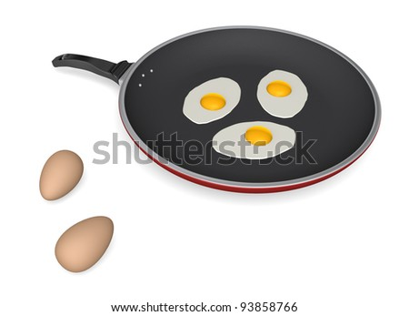 how to cook eggs in a nonstick pan