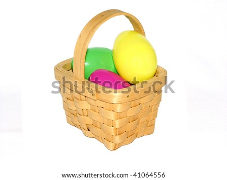 Eggs in a small basket