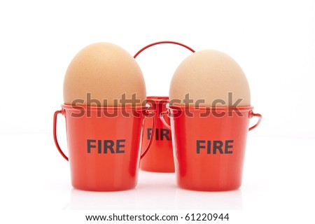 Eggs in Fire buckets