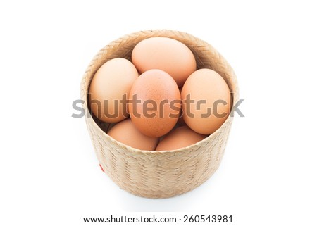 Eggs in one basket - stock photo