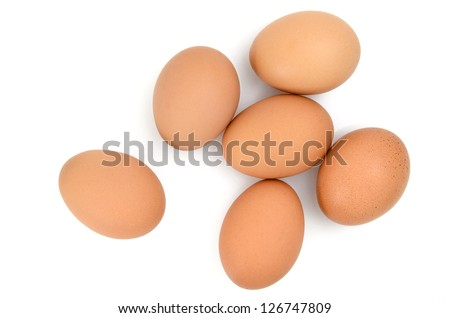 Eggs Isolated - stock photo