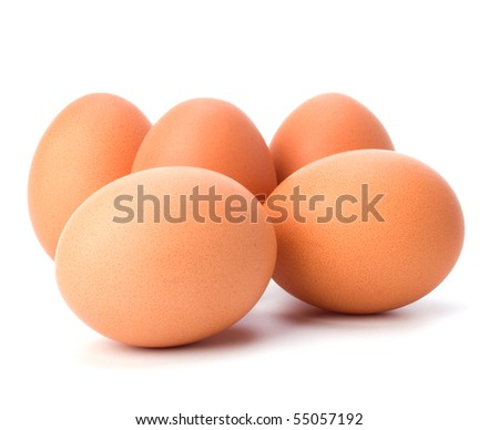 eggs isolated on white background close up - stock photo