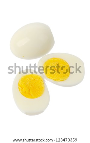 Eggs on a white background