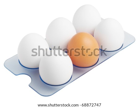 Eggs. Over a white background. - stock photo