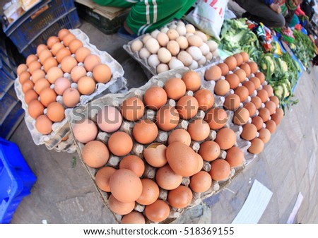 eggs selling at the vegetable market at nepal