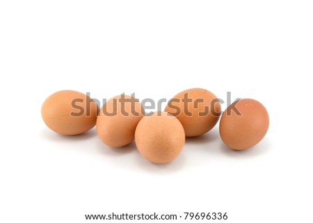 eggs stack isolated on a white background - stock photo