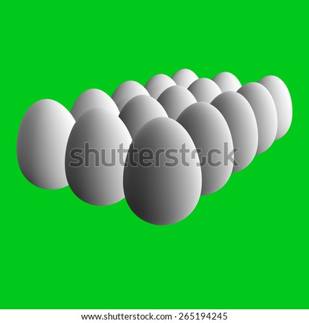 Eggs White - stock photo