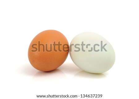 Eggs with clipping path