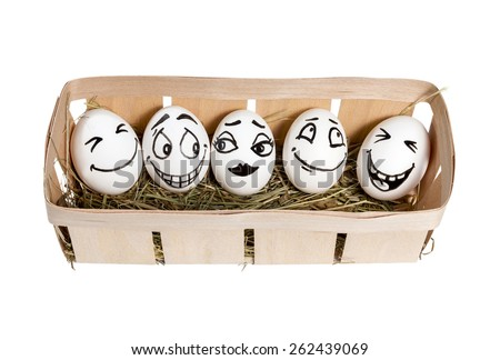how to draw faces on eggs