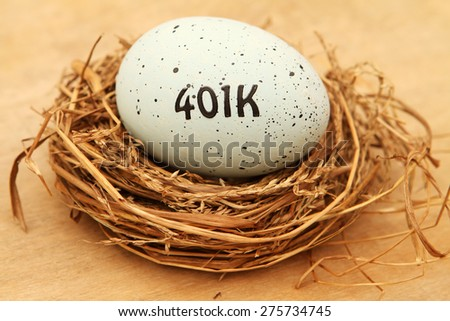 EggsK Nest Egg - stock photo