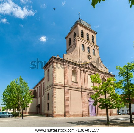 Eglise Royale Saint-Louis in Neuf Brisach - Alsace, France
