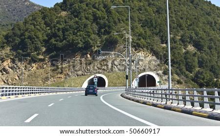 Egnatia international highway at Greece - stock photo