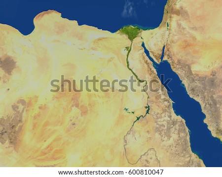 Egypt D Illustration Detailed Planet Surface Stock Illustration - Map of egypt 3d