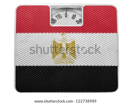 Egypt. Egyptian flag  painted on balance