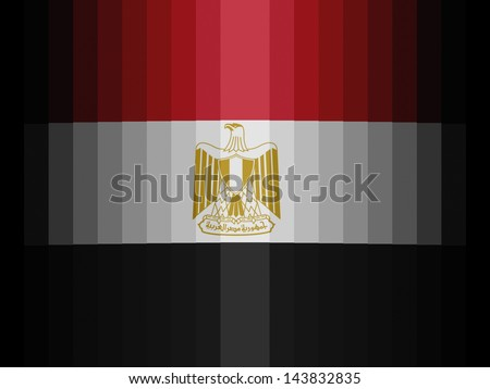 Egypt. Egyptian flag  painted on plastic - stock photo