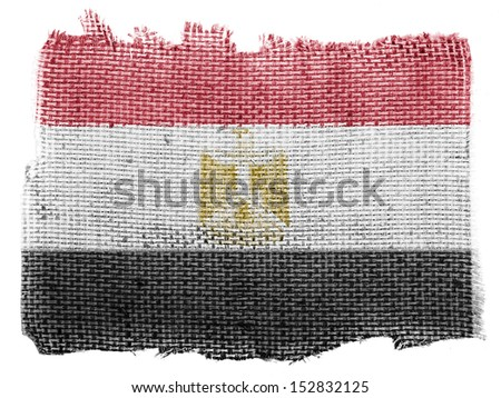 Egypt. Egyptian flag  piece of fabric - stock photo