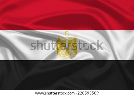 Egypt flag - stock photo
