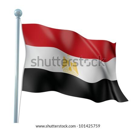 Egypt Flag Detail Render - stock photo