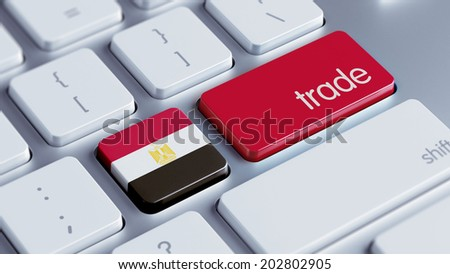 Egypt High Resolution Trade Concept - stock photo