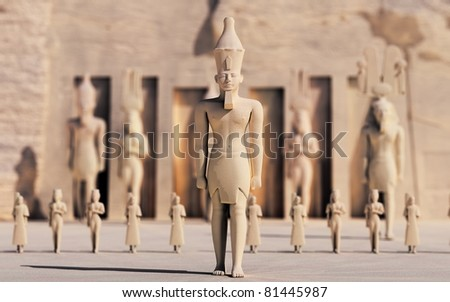 Egypt is finally moving after a long time of silence and deadlock - stock photo