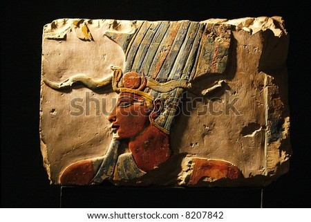 Egypt- Luxor - view of different from excavation - stock photo
