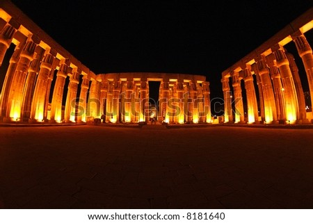 Egypt - Luxor - view of temple - stock photo