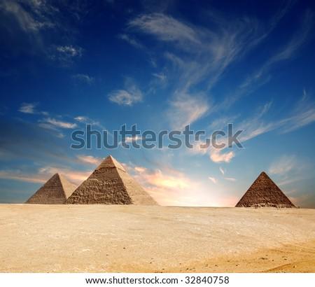 Egypt pyramid - stock photo