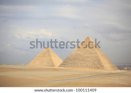egypt/pyramids/ - stock photo