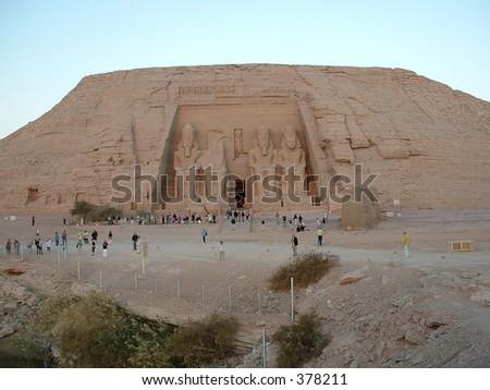 Egypt: temple of Abu Simbel - stock photo
