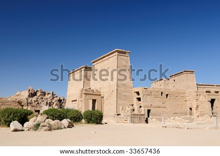 Egypt Temple of Philae - stock photo