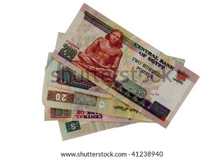 Egyptian Bank notes - stock photo