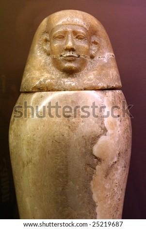 Egyptian Canopic Jar - stock photo