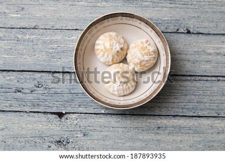 "Egyptian cookies ""Kahk El Eid"" with granulated sugar - stock photo"