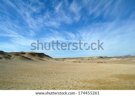 Egyptian desert, - stock photo