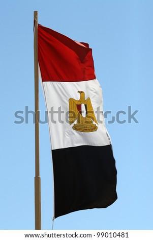 Egyptian flag - stock photo