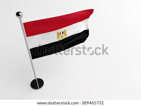 Egyptian flag isolate on white background - stock photo