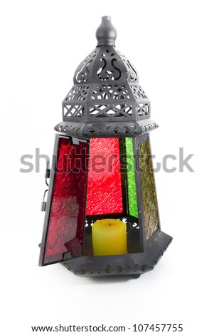 "Egyptian lantern or as we call it in Egypt ""Fanoos"", children play with it in Ramadan. - stock photo"