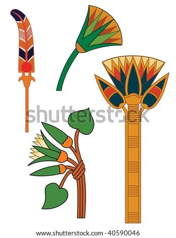 egyptian ornaments - stock photo