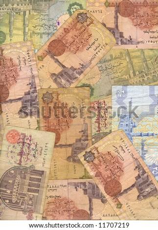 Egyptian pounds background - stock photo