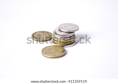 Egyptian Pounds Front View - stock photo