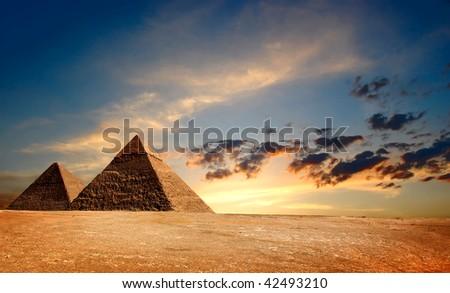 Egyptian Pyramids - stock photo